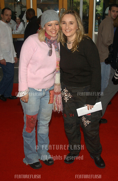 Singer MELISSA ETHERIDGE & partner actress TAMMY LYNN MICHAELS at the world premiere, in Hollywood, of Dr. Suess' The Cat in the Hat..November 8, 2003