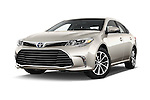 Stock pictures of low aggressive front three quarter view of 2018 Toyota Avalon XLE Premium 4 Door Sedan Low Aggressive