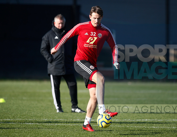 Sander Berge of Sheffield Utd during the Press Conference & Training at the Steelphalt Academy, Sheffield. Picture date: 7th February 2020. Picture credit should read: Simon Bellis/Sportimage
