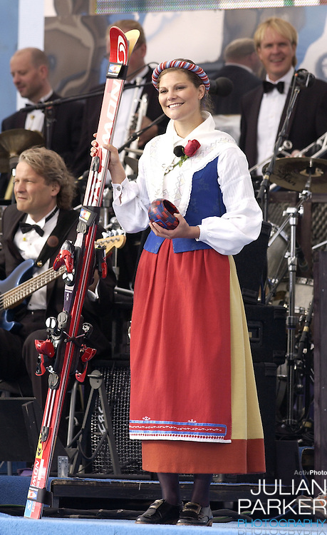 Crown Princess Victoria of Sweden celebrates her 27th birthday with a concert in Borgholm..