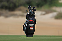 Joachim B. Hansen (DEN) bag on the 3rd fairway during Round 4 of the Omega Dubai Desert Classic, Emirates Golf Club, Dubai,  United Arab Emirates. 27/01/2019<br /> Picture: Golffile | Thos Caffrey<br /> <br /> <br /> All photo usage must carry mandatory copyright credit (&copy; Golffile | Thos Caffrey)