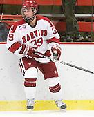 Pier-Olivier Michaud (Harvard - 39) - The visiting Quinnipiac University Bobcats defeated the Harvard University Crimson 3-1 on Wednesday, December 8, 2010, at Bright Hockey Center in Cambridge, Massachusetts.
