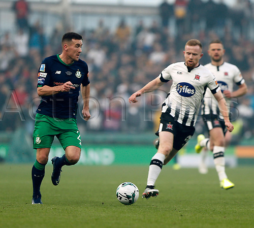 3rd November 2019; Aviva Stadium, Dublin, Leinster, Ireland; FAI Cup Final Football, Dundalk Football Club versus Shamrock Rovers; Aaron Greene on an attacking run for Shamrock Rovers
