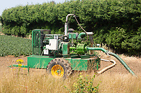 Irrigation pump working in a potato field<br /> &copy;Tim Scrivener Photographer 07850 303986<br />      ....Covering Agriculture In The UK....