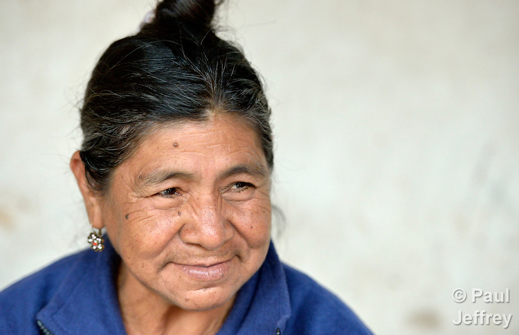 Edulia Vaquera is a Guarani indigenous woman in the village of Kapiguasuti, Bolivia. She and her neighbors started small gardens with assistance from Church World Service, supplementing their corn-based diet with nutritious vegetables and fruits.