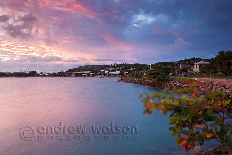 Waterfront at dusk.  Thursday Island, Torres Strait Islands, Queensland, Australia