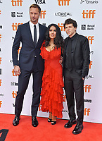 08 September 2018 - Toronto, Ontario, Canada - Alexander Skarsg&aring;rd, Salma Hayek, Jesse Eisenberg. &quot;The Hummingbird Project&quot; Premiere - 2018 Toronto International Film Festival held at the Princess of Wales Theatre. <br /> CAP/ADM/BPC<br /> &copy;BPC/ADM/Capital Pictures