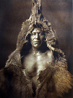 BNPS.co.uk (01202 558833)<br /> Pic: Bloomsbury/BNPS<br /> <br /> Bears Belly of the Arikara tribe in 1908.<br /> <br /> Lost souls - Poignant archive reveals the lost tribes of North America in beautiful photographs from just over a century ago.<br /> <br /> A remarkable collection of photographs which give an unprecedented insight into the lives of Native Americans at a time when their land was being taken from them have emerged at auction.<br /> <br /> Between 1907 and 1930, US photographer Edward Curtis spent time with more than 80 native tribes across Native America, taking thousands of photographs as part of his groundbreaking The North American Indian project.<br /> <br /> A collection of more than 500 rare Curtis photographs are being auctioned off later this month and are expected to fetch over &pound;300,000.