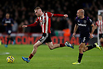 Oliver McBurnie of Sheffield United runs away from Pablo Zabaleta of West Ham United during the Premier League match at Bramall Lane, Sheffield. Picture date: 10th January 2020. Picture credit should read: James Wilson/Sportimage
