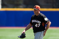7 March 2009: #47 Sidney Ponson of the Netherlands is seen during the 2009 World Baseball Classic Pool D match at Hiram Bithorn Stadium in San Juan, Puerto Rico. Netherlands pulled off a huge upset in their World Baseball Classic opener with a 3-2 victory over Dominican Republic.