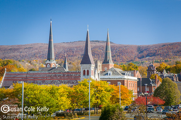 Steeples of North Adams, Berkshire Hills, MA, USA