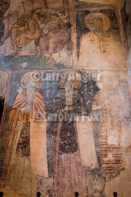 Iconography within the church at the Monastery Mileševa, Serbia originally built in the 13th century.