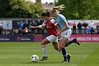 Daniwlle van de Donk of Arsenal Womenand Esme Morgan of Manchester City Women during Arsenal Women vs Manchester City Women, FA Women's Super League Football at Meadow Park on 11th May 2019