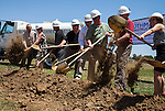 The ground breaking ceremony for the athletic stadium renovation was held at historic Eells Field at Antioch High School in Antioch, California, on Monday, June 9, 2014.  Photo/Victoria Sheridan