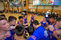 Boys' basketball final between Maeroa Intermediate and Heretaunga Intermediate on Day six of the 2019 AIMS games at Blake Park in Mount Maunganui, New Zealand on Friday, 13 September 2019. Photo: Dave Lintott / lintottphoto.co.nz