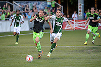 Tukwila, Washington - Wednesday, July 9, 2014: The Seattle Sounders FC defeated the Portland Timbers 3-1 in extra time at the U.S. Open Cup quarter finals at Starfire Stadium.