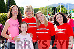 Carah and jessica fuller, Noretta brosnan, anita O'Donoghue and siobhain donnelly  at the Ronald McDonald walk for families in Killarney on Saturday