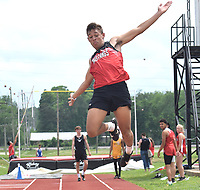 RICK PECK/SPECIAL TO MCDONALD COUNTY PRESS Michael Williams won long jump at the Missouri Class 4 Sectional 1 Track and field Championships with a jump of 21-11 on May 18 at West Plains High School.