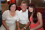 Derek Little with his wife Gay and daughter Rachel at his birthday party in Harry's...Photo NEWSFILE/Jenny Matthews.(Photo credit should read Jenny Matthews/NEWSFILE)....This Picture has been sent you under the condtions enclosed by:.Newsfile Ltd..The Studio,.Millmount Abbey,.Drogheda,.Co Meath..Ireland..Tel: +353(0)41-9871240.Fax: +353(0)41-9871260.GSM: +353(0)86-2500958.email: pictures@newsfile.ie.www.newsfile.ie.FTP: 193.120.102.198.