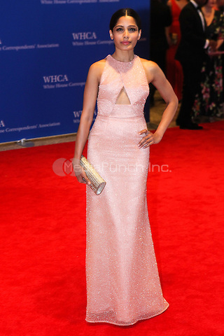 WASHINGTON DC - MAY 3: Freida Pinto attending the White House Correspondents' Association Dinner in Washington DC on May 3, 2014. Photo Credit: RTNWarne/MediaPunch