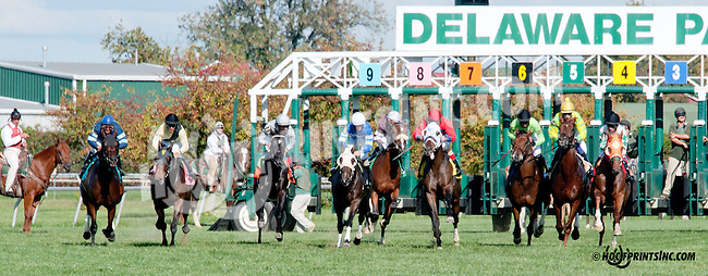 Mega Boom winning at Delaware Park on 9/28/13