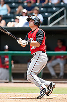 Devin Mesoraco (36) of the  Carolina Mudcats during a game vs. the Jacksonville Suns May 31 2010 at Baseball Grounds of Jacksonville in Jacksonville, Florida. Jacksonville won the game against Carolina by the score of 3-2. Photo By Scott Jontes/Four Seam Images