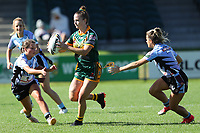 The Wyong Roos play Terrigal Sharks in Round 5 of the Ladies League Tag Central Coast Rugby League Division at Morry Breen Oval on 5th of April, 2019 in Kanwal, NSW Australia. (Photo by Paul Barkley/LookPro)