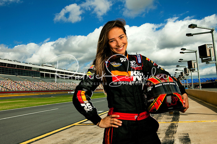10/07/09: Belmont Abbey College student Caitlin Shaw is NASCAR Truck Series driver.
