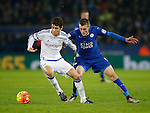 Oscar of Chelsea and Jamie Vardy of Leicester City - English Premier League - Leicester City vs Chelsea - King Power Stadium - Leicester - England - 14th December 2015 - Picture Simon Bellis/Sportimage