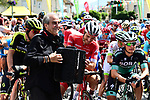 Entertainment at the start of Stage 6 of the 2018 Criterium du Dauphine 2018 running 110km from Frontenex to La Rosiere, France. 9th June 2018.<br /> Picture: ASO/Alex Broadway | Cyclefile<br /> <br /> <br /> All photos usage must carry mandatory copyright credit (&copy; Cyclefile | ASO/Alex Broadway)