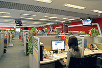 In the office of Sohu.Com Inc., a Chinese Internet Media and daily source of information, communication and entertainment. Sohu provided the Internet Content Service (ICS) for the Beijing 2008 Olympic Games..