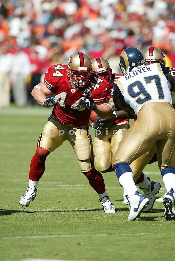 CHRIS HETHERINGTON, of the San Francisco 49er's , during their game against the St. Louis Rams on September 17, 2006 in San Francisco, CA...49er's win 20-13..Rob Holt / SportPics.