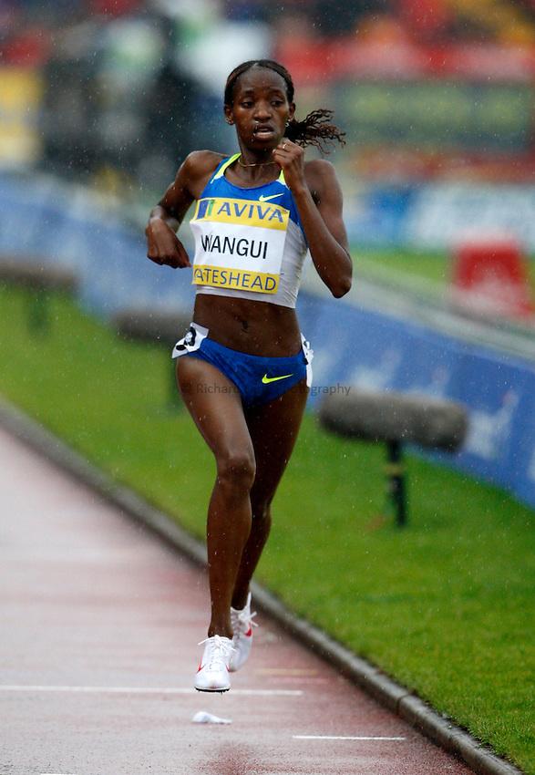 Photo: Richard Lane/Richard Lane Photography. Aviva British Grand Prix, Gateshead. 31/08/2008. Kenya's Lucy Wangui in the women's 3000m.