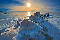 Sunset on Lake Winnipeg at Hillside Beach, , Manitoba, Canada