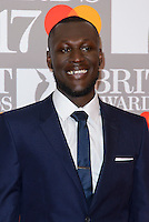 www.acepixs.com<br /> <br /> February 22 2017, London<br /> <br /> Stormzy arriving at The BRIT Awards 2017 at The O2 Arena on February 22, 2017 in London, England.<br /> <br /> By Line: Famous/ACE Pictures<br /> <br /> <br /> ACE Pictures Inc<br /> Tel: 6467670430<br /> Email: info@acepixs.com<br /> www.acepixs.com