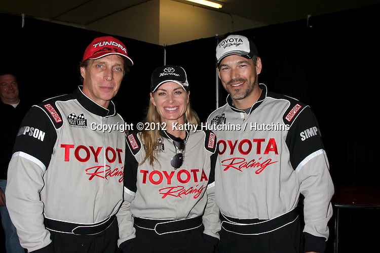 LOS ANGELES - MAR 17:  William Fitchner; Eileen Davidson; Eddie Cibrian at the training session for the 36th Toyota Pro/Celebrity Race to be held in Long Beach, CA on April 14, 2012 at the Willow Springs Racetrack on March 17, 2012 in Willow Springs, CA