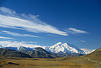 North America's highest mountain, autumn, Park road, Denali National Park, Alaska