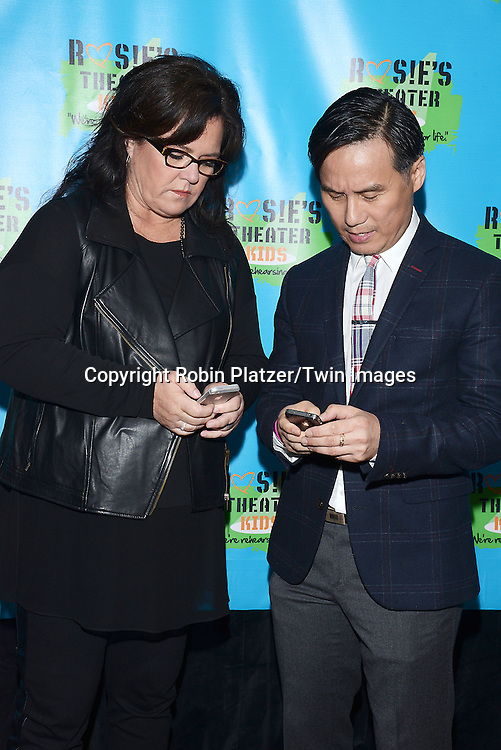 Rosie O'Donnell and BD Wong attend Rosie O'Donnell's 11th Annual Rosie's Theater Kids Gala on September 22, 2014 at The New York Marriott Marquis in New York City. <br /> <br /> photo by Robin Platzer/Twin Images<br />  <br /> phone number 212-935-0770