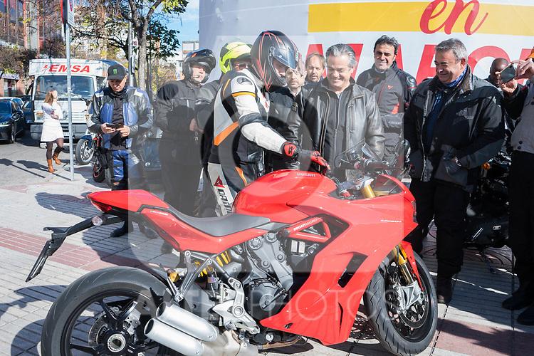 President of Ciudadanos Albert Rivera during the meeting wiht bikers in Madrid
