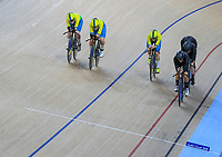 Womens 4000m pursuit team win Silver as they are caught by Australia. Track Cycling, Anna Meares Arena, Commonwealth Games, Gold Coast, Australia. Thursday 5 April, 2018. Copyright photo: John Cowpland / www.photosport.nz /SWPix.com