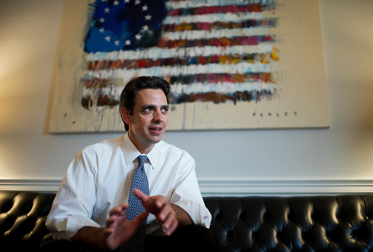UNITED STATES - MARCH 12: Rep. Tom Graves, R-Ga., is interviewed by Roll Call in his Cannon Building office. (Photo By Tom Williams/CQ Roll Call)