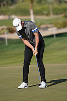 Bernd Wiesberger (AUT) on the 16th green during Round 3 of the Abu Dhabi HSBC Championship at the Abu Dhabi Golf Club, Abu Dhabi, United Arab Emirates. 18/01/2020<br /> Picture: Golffile | Thos Caffrey<br /> <br /> <br /> All photo usage must carry mandatory copyright credit (© Golffile | Thos Caffrey)