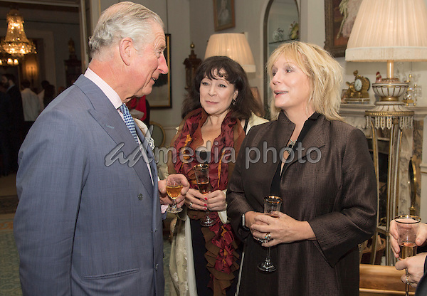 22 November 2016 - London, England - Prince Charles, Harriet Thorpe and Jennifer Saunders. Prince Charles Patron of Walk the Walk hosts a reception to celebrate the 20th Anniversary of the charity and meet ambassadors and supporters at Clarence House London. Photo Credit: Alpha Press/AdMedia