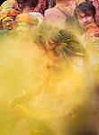 India, Uttar Pradesh, Mathura, Holi festival