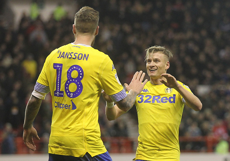 Leeds United's Ezgjan Alioski<br /> <br /> Photographer Mick Walker/CameraSport<br /> <br /> The EFL Sky Bet Championship - Nottingham Forest v Leeds United - Tuesday 1st January 2019 - The City Ground - Nottingham<br /> <br /> World Copyright © 2019 CameraSport. All rights reserved. 43 Linden Ave. Countesthorpe. Leicester. England. LE8 5PG - Tel: +44 (0) 116 277 4147 - admin@camerasport.com - www.camerasport.com