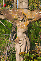 crucifix in the vineyard pfaffenheim alsace france