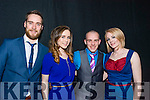 Pictured at the St. Vincent de Paul Society at I.T. Tralee Fashion Show in Ballyroe Heights Hote On Thursday night: From left were: L-R Steven Healy, Triona Clifford, Ruari Fry, Petrina Comerford.