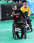 Lulian Ciobanu competes in  Boccia at the 2019 ParaPan American Games in Lima, Peru-1aug2019-Photo Scott Grant