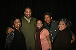 Hope and her family pose with Layon Gray in his Black Angels Over Tuskegee - The Story of the Tuskegee Airman on February 7, 2010 and continuing. Check it out at www.theblackgents.com (Photo by Sue Coflin/Max Photos)