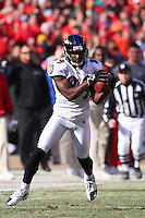 Baltimore wide receiver Mark Clayton in action against the Chiefs at Arrowhead Stadium in Kansas City, Missouri on December 10, 2006.The Ravens won 20-10.